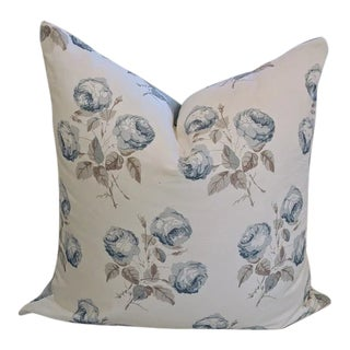 Bowood in Blue by Colefax & Fowler Pillow Cover For Sale