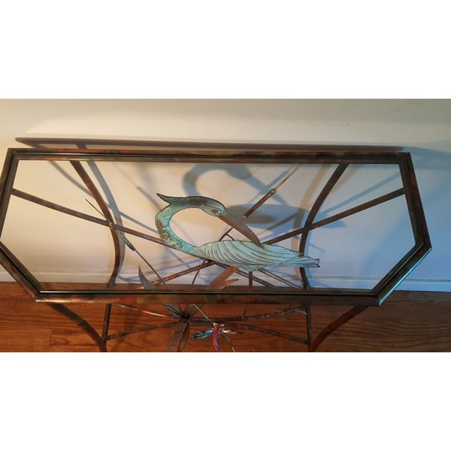 Mid-Century Modern Jere Style Brass Console - Image 7 of 8