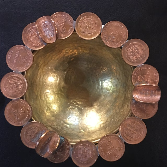 Vintage Brass Coin Bowl - Image 5 of 7