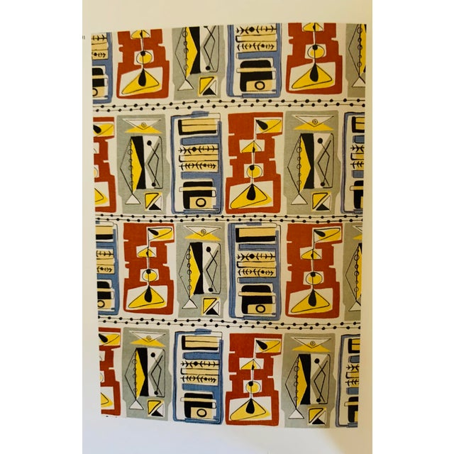 Paper Vintage Victoria and Albert Museum Fifties Furnishing Fabrics For Sale - Image 7 of 9