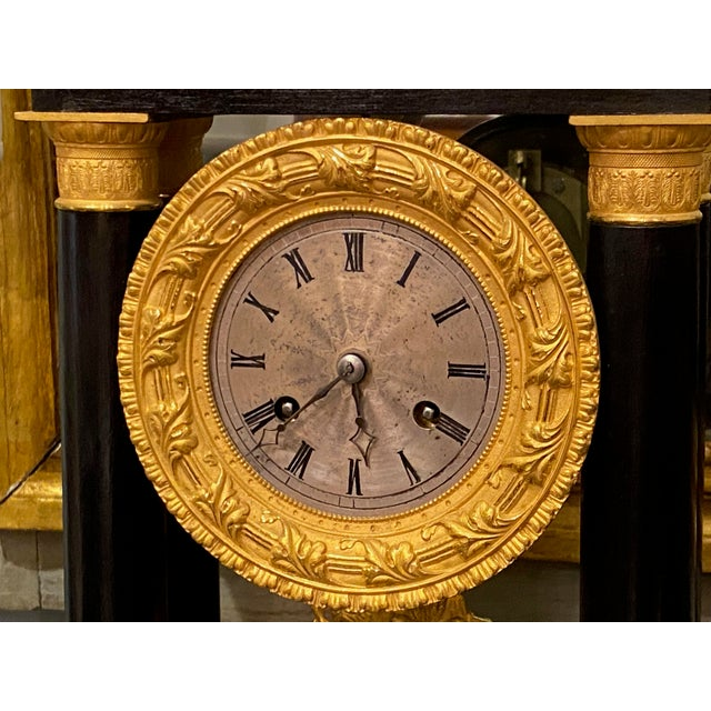 19th Century French Portico Mantel Clock For Sale - Image 4 of 10