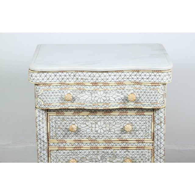 Pair of Mother-Of-Pearl Inlay Syrian Nightstands For Sale In Los Angeles - Image 6 of 11
