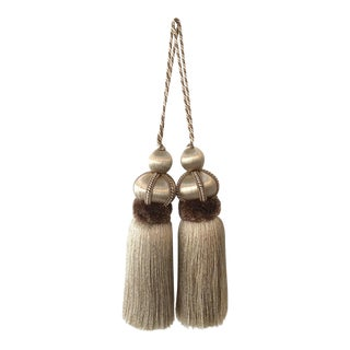 "Pair of Key Tassels With Cut Ruche - Tassel Height - 5.75"" For Sale"