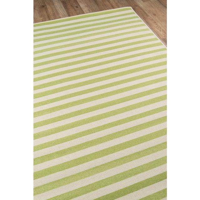"2010s Momeni Baja Green Stripe Indoor/Outdoor Rug - 7'10"" X 10'10"" For Sale - Image 5 of 6"