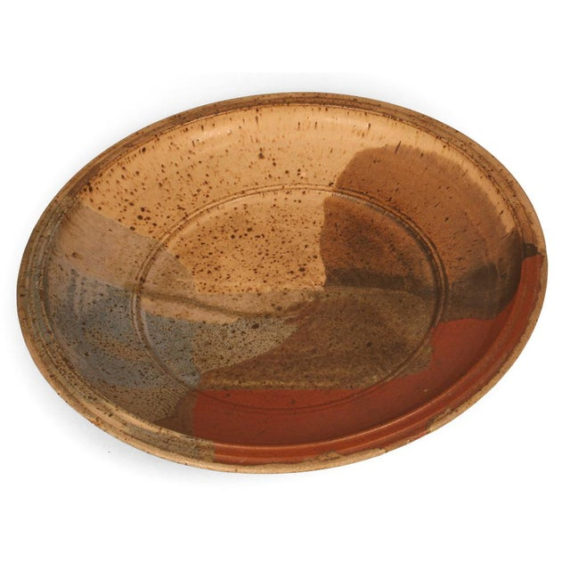 Abstract Glazed Stoneware Charger For Sale In New York - Image 6 of 9