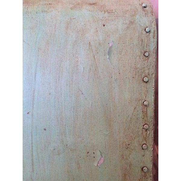 Green Industrial Steel & Teak Wood Bookshelf - Image 4 of 4