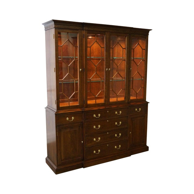 Harden Chippendale Style Cherry China Cabinet - Image 1 of 10