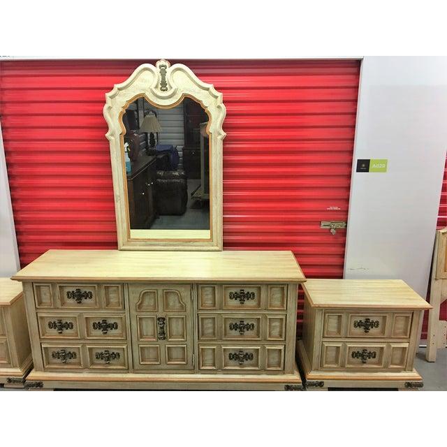 Vintage Stanley Solid Wood Dresser with Mirror - Image 8 of 10