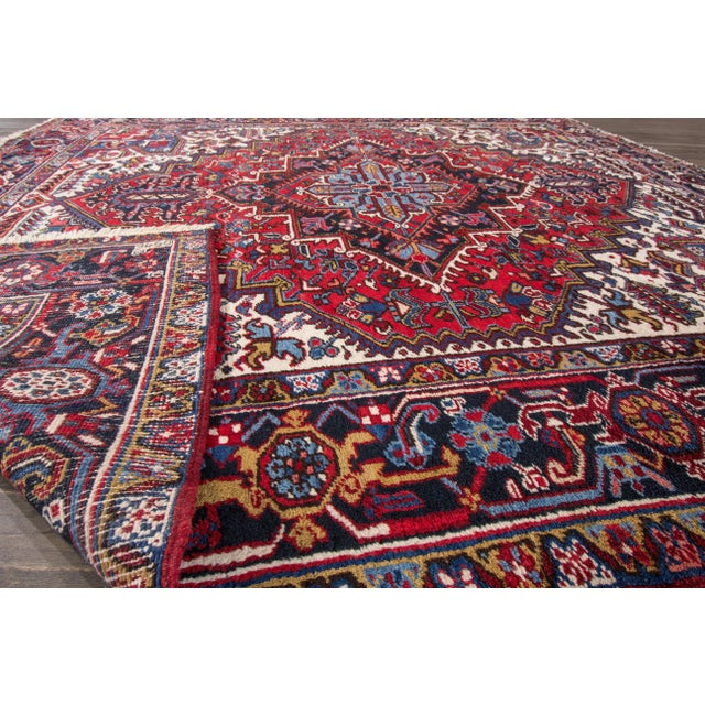 """Apadana - Vintage Persian Heriz Rug, 8' x 8'9"""" - Image 3 of 7"""