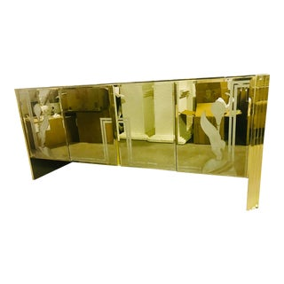 1960s Vintage Ello Smokey Mirrored Sideboard For Sale
