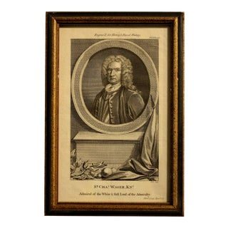 """18th Century Print """"Sir Charles Wagner, 'The Naval History of Great Britain'"""" by Frederick Hervey For Sale"""