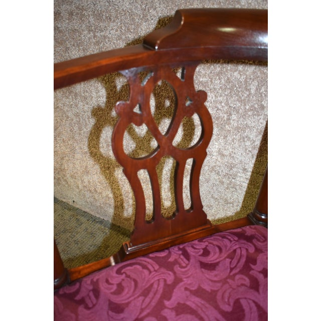 Vintage Chippendale Hickory Chair Solid Mahogany Style Corner Chair For Sale In Philadelphia - Image 6 of 13