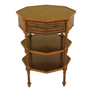 1990s Vintage Maitland-Smith Leather Wrapped Occasional Table For Sale