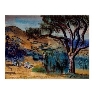1944 California Scene by Erle Loran For Sale