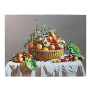 Bowl of Pomegranates Oil Painting