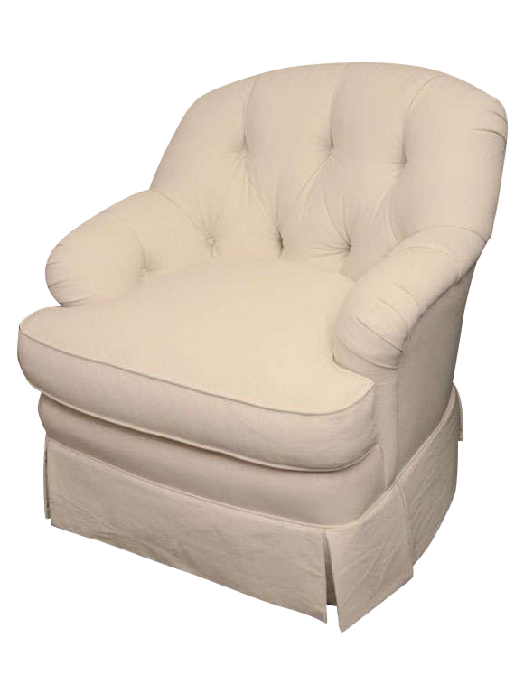 Bon Ivory Tufted Swivel Chair