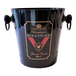 Black Bollinger Champagne Ice Bucket For Sale