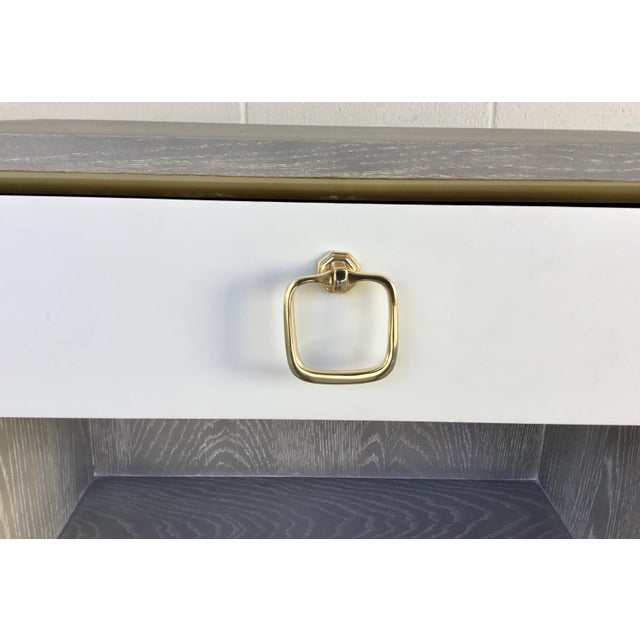 Bungalow 5 Modern Cerused Gray Finished One Drawer Side Table For Sale In Atlanta - Image 6 of 8