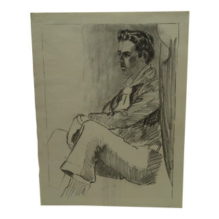 "Original Drawing Sketch Deep in Thought"" by Tom Sturges Jr., 1959"