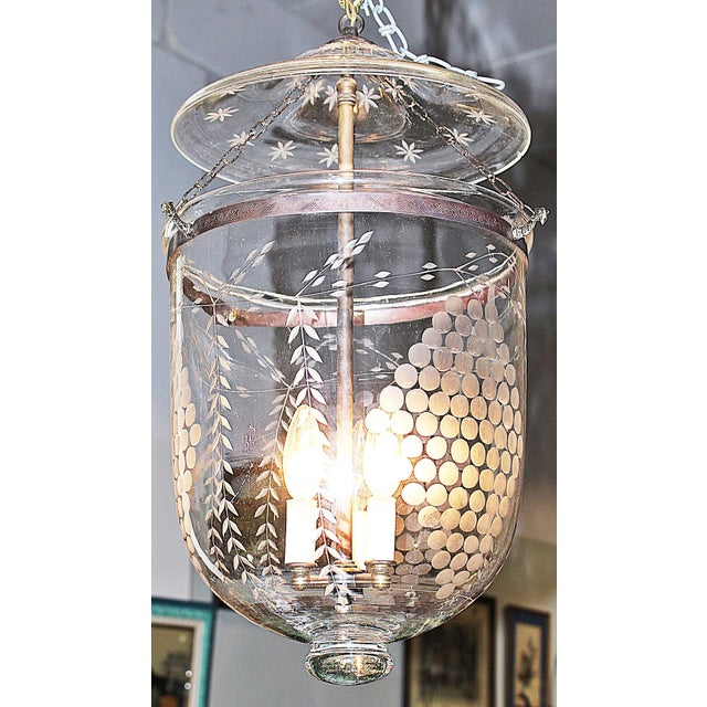 Apothecary Etched Glass Fixture - Image 2 of 7