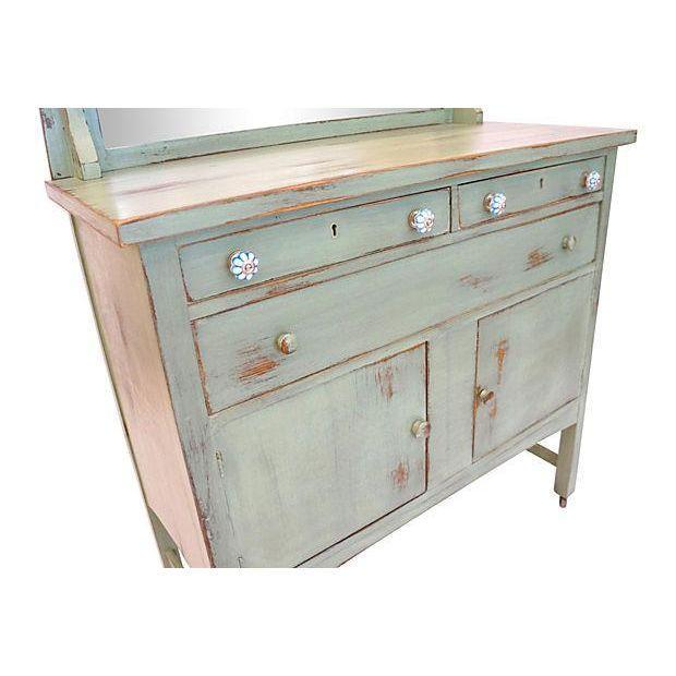 Vintage Craftsman Style Distressed Wood Cabinet - Image 5 of 5