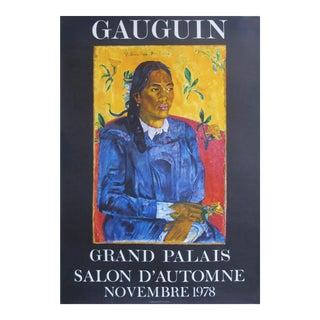 Original 1978 Exhibition Poster, Paul Gauguin, Grand Palais Salon d'Automne For Sale