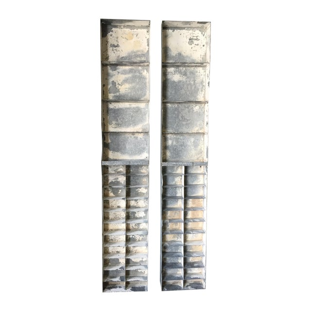 Vintage Large Industrial Metal Storage Shelf Unit - Image 1 of 11