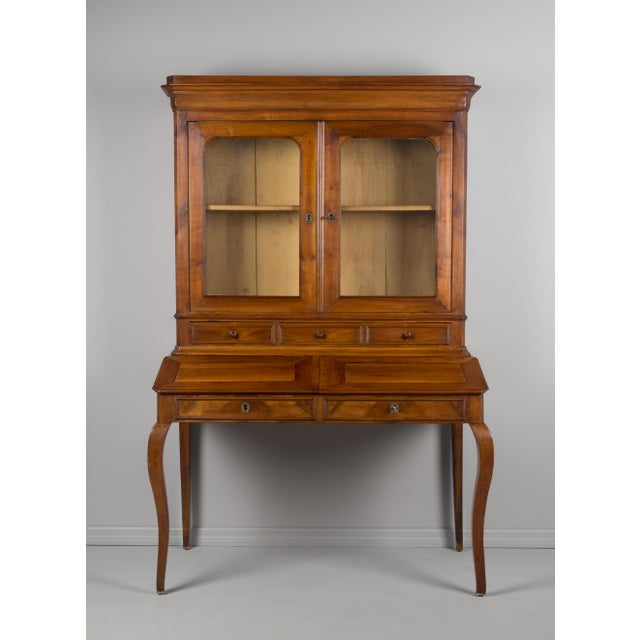 Brown Late 19th Century Antique French Country Style Slant Top Desk For Sale - Image 8 of 11