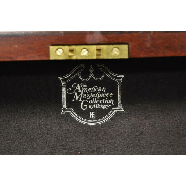 Hickory Chair Co. Mahogany & Burlwood Queen Anne Silverware Silver Chest For Sale - Image 10 of 13