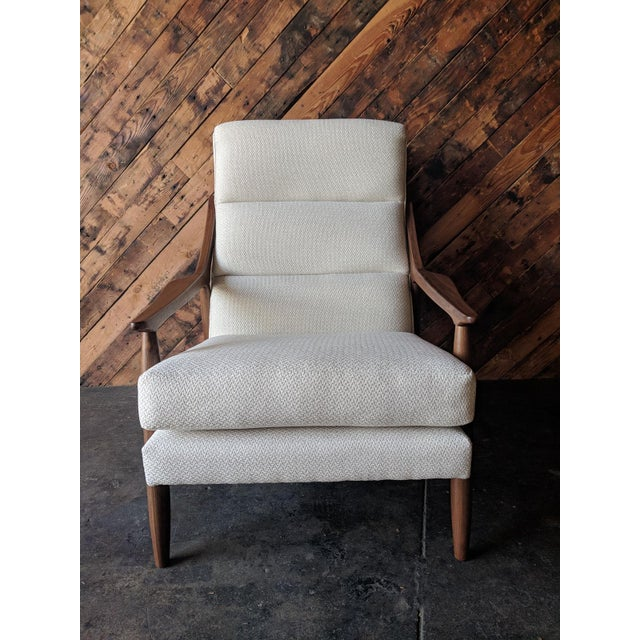 Custom Danish Mid Century Style Lounge Chair For Sale - Image 4 of 9