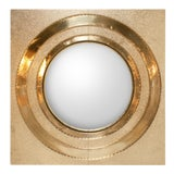 Image of Contemporary Global Views Ronan Brass Round Wall Mirror For Sale