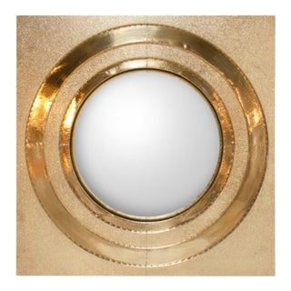Contemporary Global Views Ronan Brass Round Wall Mirror For Sale