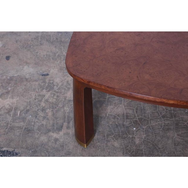Mahogany Triangle Coffee Table by Edward Wormley for Dunbar For Sale - Image 7 of 9