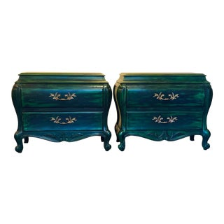 White Furniture Co. Bombe Chests - a Pair For Sale