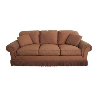 Pair Baker Sofas Lawson Style from the Crown and Tulip Collection Terracotta