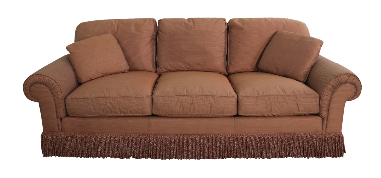 Pair Baker Sofas Lawson Style From The Crown And Tulip Collection  Terracotta For Sale