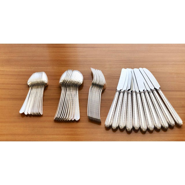 1930s 1930s Melody by Alvin Silverplate Flatware Set for 11 Dinner Service - 44 Pieces For Sale - Image 5 of 8