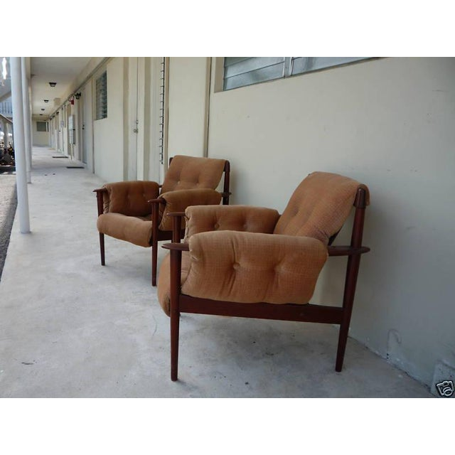 Danish Modern 1950's Vintage Greta Jalk & Poul Jeppesen Chairs- A Pair For Sale - Image 3 of 11