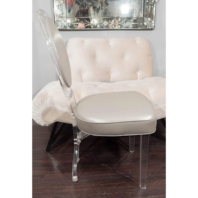 1970s Lucite Baloon Back Chair For Sale - Image 4 of 8