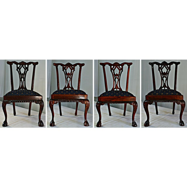 Chippendale Mahogany Dining Chairs - Set of 4 - Image 9 of 9
