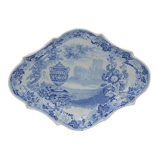 1830s English Transferware Dish For Sale