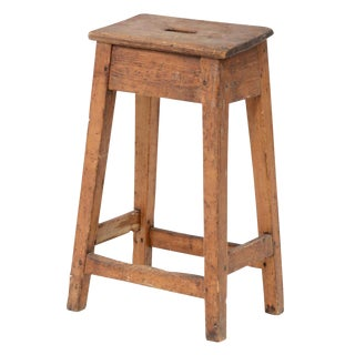 Antique English Counter Stool For Sale