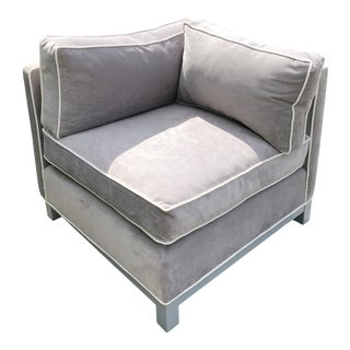 Mitchell Gold Corner Gray Newly Recovered Chair For Sale
