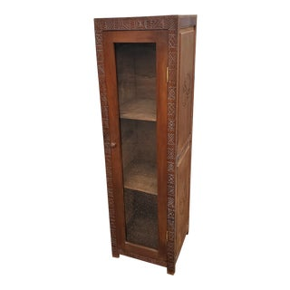 Moroccan Handmade Cedar Wooden Cabinet For Sale