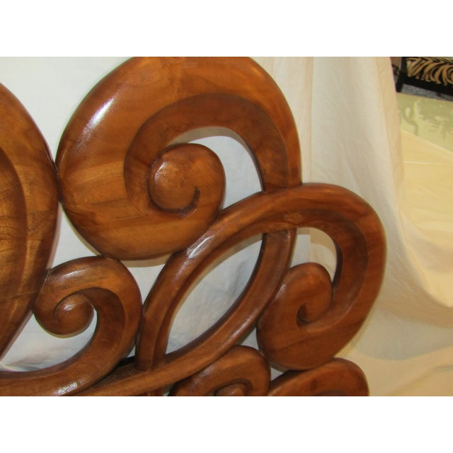 Wood Scroll Design Mirror - Image 3 of 4