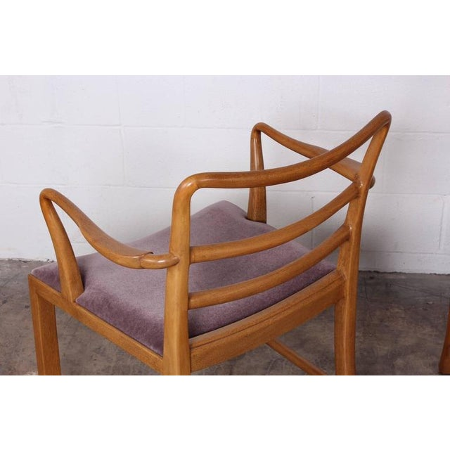 Set of Eight Dining Chairs by Edward Wormley for Dunbar For Sale - Image 10 of 10