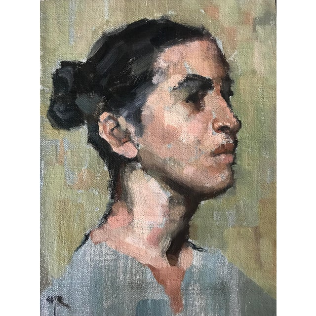 """Ebony Rubino Oil Painting """"Steampunktress"""", Contemporary Portrait For Sale - Image 7 of 7"""