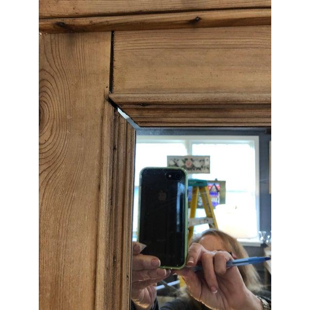 Brown Vintage Swedish Natural Carved Wood Mirror For Sale - Image 8 of 13