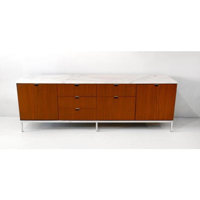 Credenza, Teak & Marble by Florence Knoll For Sale In Dallas - Image 6 of 6