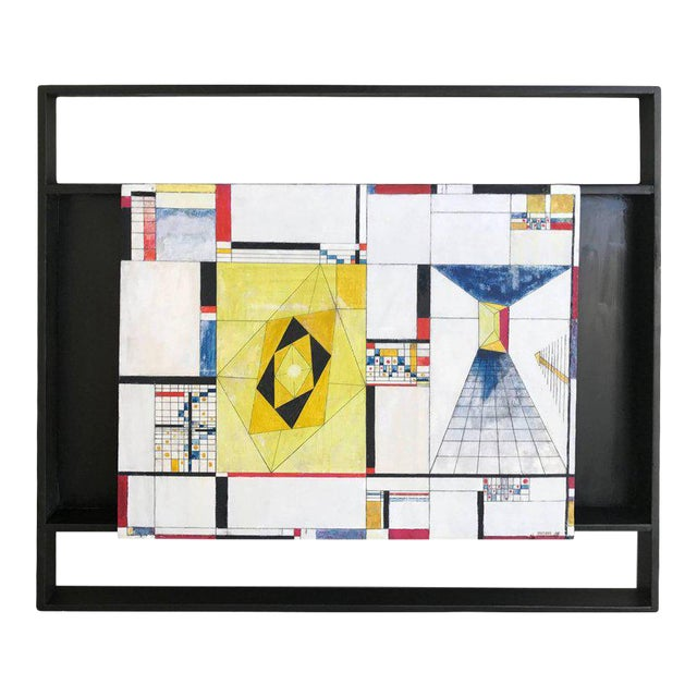 James McCray, 1945 Abstract Geometric San Francisco Museum of Art Exhibition Tag For Sale